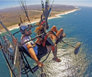 San Lucas Paragliding Extreme 360 VR Guided Experience. Looking for Sharks, Whales and Stingrays